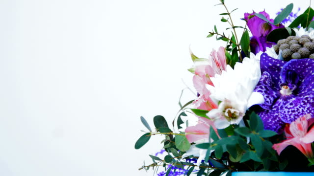 colorful bouquet, giving a wonderful fragrance of happiness video