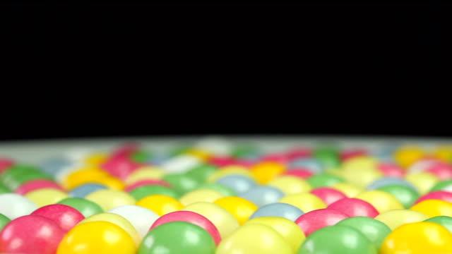 colorful bubble gum - close up video