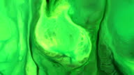 Colorful chemical reaction background video