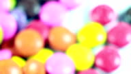 HD :Colorful chocolate coated candy video