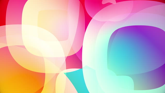colorful circles video background glassy and transparent circular shapes video