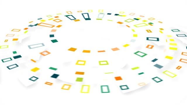 colorful circular segments rotating loop video