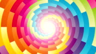 colorful circular spiral rotating background video