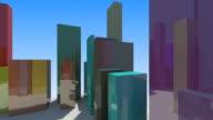 Colorful City Flight video