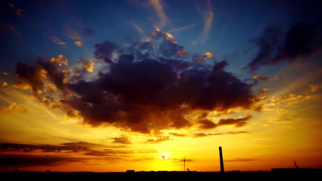Colorful city sunrise video