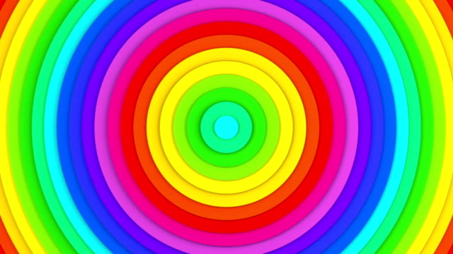 Colorful concentric lines abstract 3D animation seamless loop video
