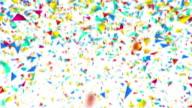 Colorful confetti animation video