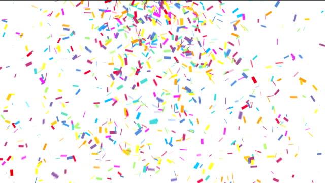 Colorful confetti video