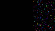 Colorful Confetti Video with Copy Space - alpha channel video