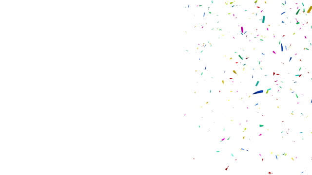 Colorful Confetti Video with Copy Space video