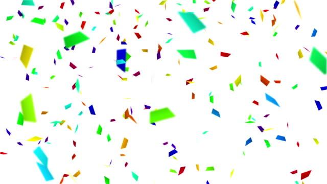colorful confetti with luma matte loopable backgeound video