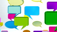 Colorful conversation icons video