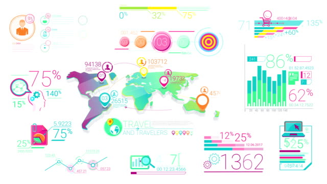 Colorful Corporate Infographic Elements video