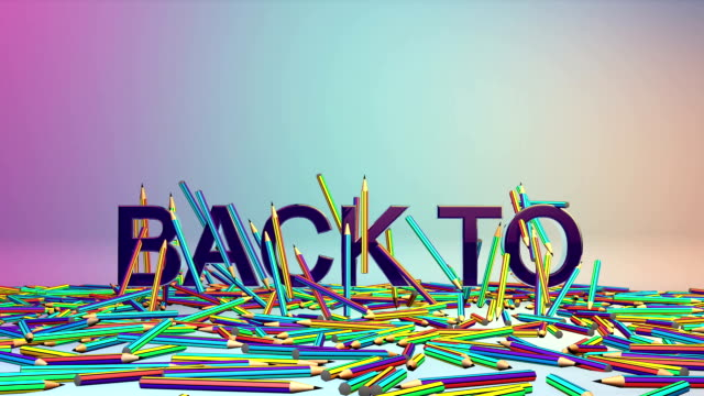 Colorful Crayons and Back to School video