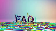 Colorful Crayons and FAQ text, Alpha video