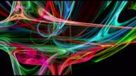 Colorful curves abstract loop motion background video