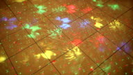 Colorful disco lights on a dance floor video