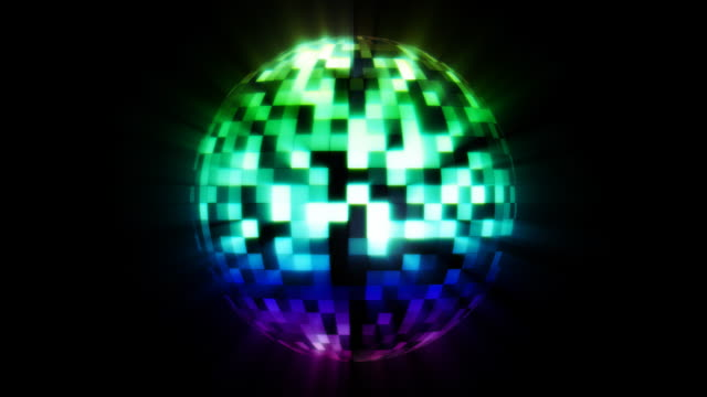 Colorful DiscoBall video