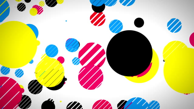 Colorful dots flying by video