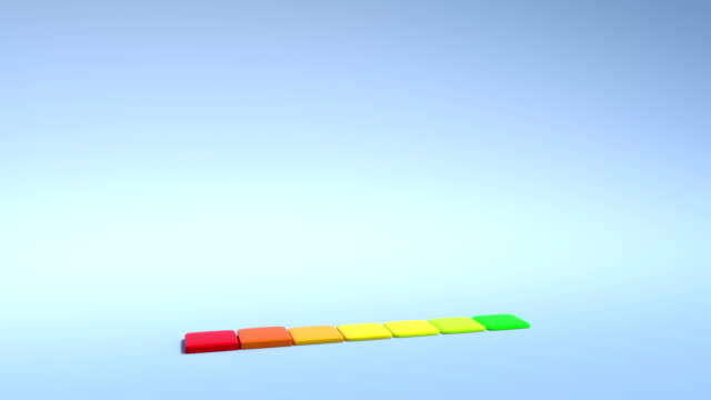 3D Colorful economy graphic bar is rising - 4K video
