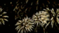 Colorful fireworks in slow motion 96fps video