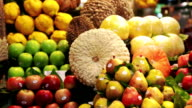 Colorful fruits video