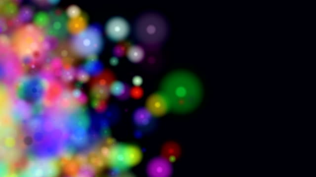 Colorful Galaxy Particles Background Seamless Loop HD video