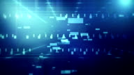 colorful geometric grid  and blur abstract background video