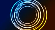 Colorful glowing neon circles video animation video