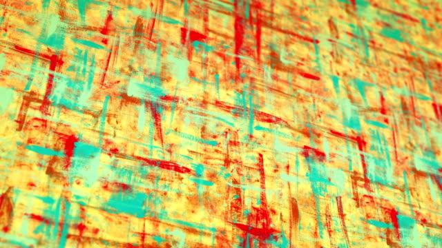 colorful grunge painted canvas pan loop video