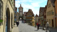 Colorful houses on Rothenburg ob der Tauber video