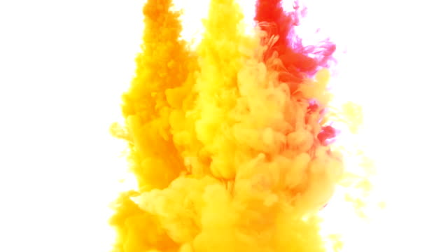 Colorful ink in water abstract video
