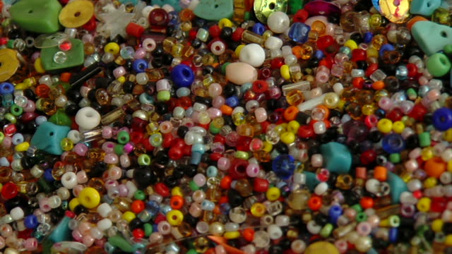 Colorful jewelry beads video
