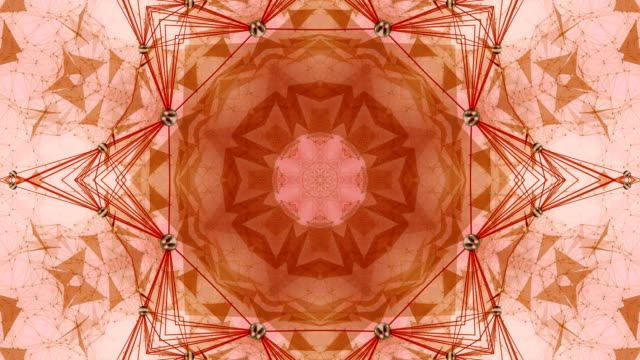 Colorful Kaleidoscopic Video Background. video