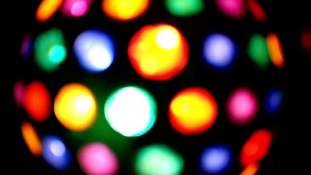 Colorful Light disco. video