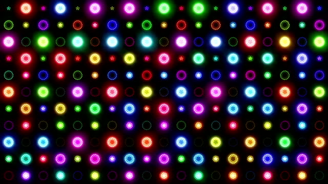VJ Colorful Lights Flashing - Wall of Lights video