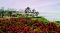 Colorful Lima Peru boardwalk video