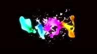 colorful liquids on black video