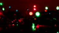 colorful luminous garland and reflection seamless loop video