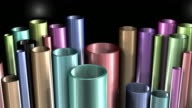 Colorful Metal Pipes Background Loop HD video