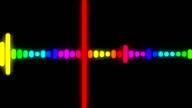 Colorful music VU meter. video