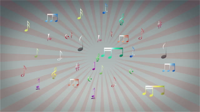 Colorful Musical Notes video