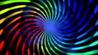 colorful neon hypnotic spiral abstract motion background video