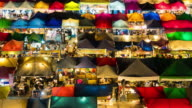 Colorful Night market at Ratchada, Bangkok video