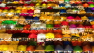 Colorful Night market in Bangkok video