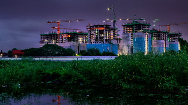 Colorful of Construction Site Timelapse video