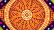 Colorful Oriental Mandalas Spinning in Loop video