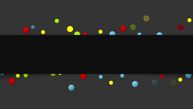 Colorful paper circles abstract video animation video