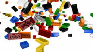 Colorful Plastic Blocks Falling into Pile video