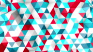colorful polygonal surface moving seamless loop video